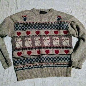 80s Vintage Cat sweater.